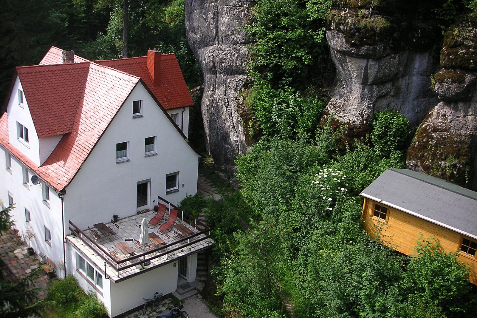 Haus in Tüchersfeld in der fränkischen Schweiz